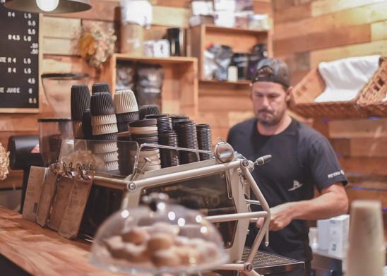 Barista working in coffee shop in Sawtell NSW
